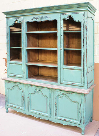 French Country Kitchen Dresser french dresser, turquoise – luxury window treatments