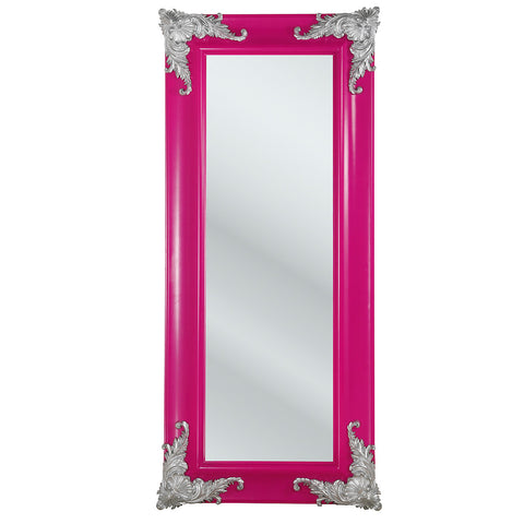 Funky Pink French Mirror, Full Length