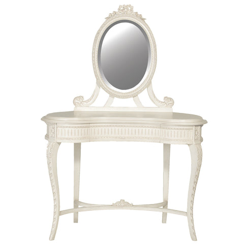 Chateau French Vanity Table, Antique White