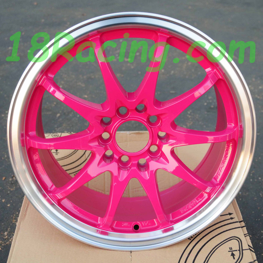 Rota Wheels Fighter 10 1670 5X100/114.3 40 73 Pink with Polish Lip