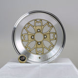 Rota Wheels Aleica 1580 4x100 15 67.1 Gold with Polish Lip