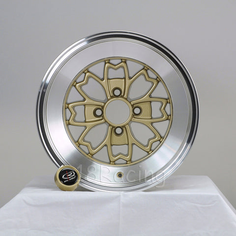 Rota Wheels Aleica 1580 4x100 10 67.1 Gold with Polish Lip