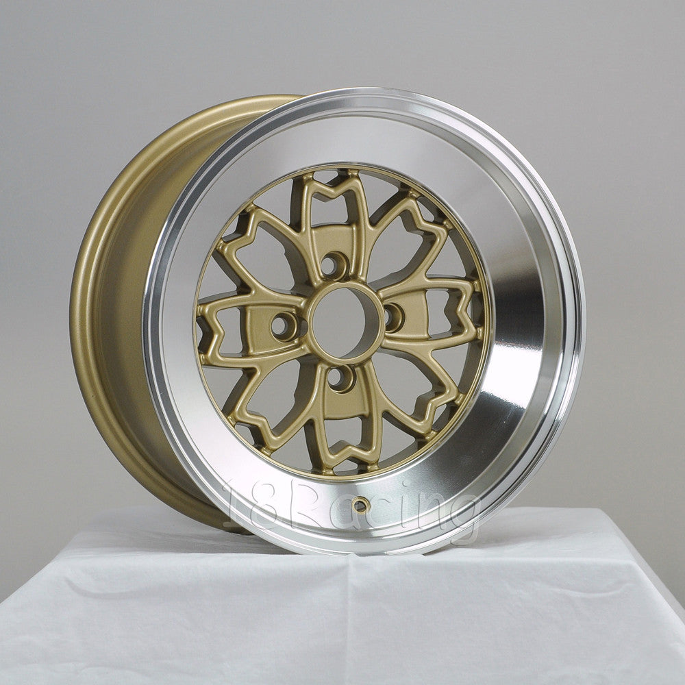 Rota Wheels Aleica 1580 4x114.3 -5 73 Gold with Polish Lip