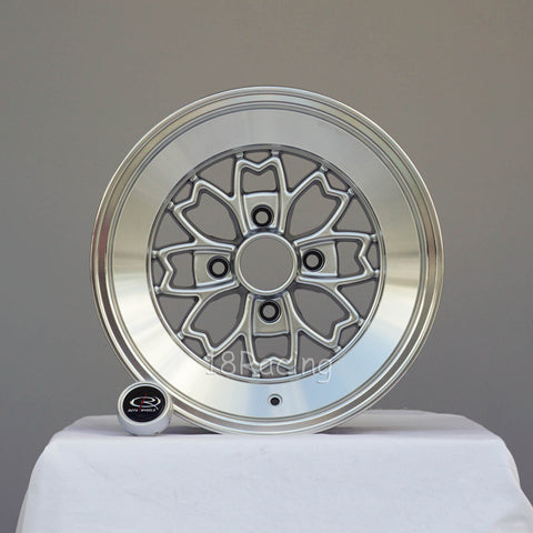Rota Wheels Aleica 1580 4x114.3 -5 73 Hyper silver with Polish Lip
