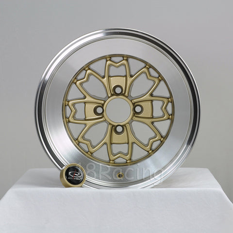 Rota Wheels Aleica  1590 4X114.3 -15 73 Gold with Polish Lip