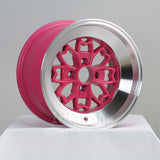Rota Wheels Aleica 1590 4x100 10 67.1 Pink with Polish Lip