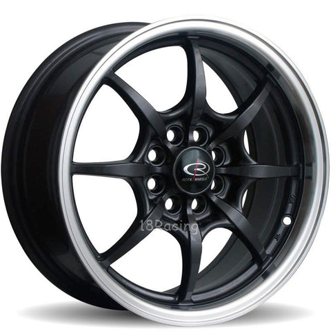 Rota Wheels Circuit 8 1670 8X100/114.3 40 73 Black with Polish Lip