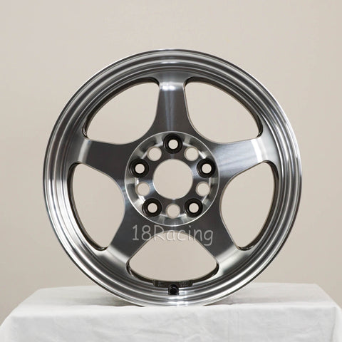 FLOW FORM  Rota Wheels Slipstream 1570 5X114.3 40 73 Full Polish Gunmetal   11.5 Lbs
