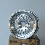 Rota Wheels Flush 1570 4X100 10 67.1 Full Polish Silver