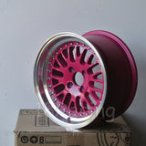 Rota Wheels Flush 1580 4X100 20 67.1 Pink with Polish Lip