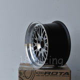 Rota Wheels Flush 1570 4X100 10 67.1 Hyperblack with Polish Lip