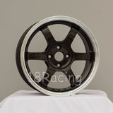 Rota Wheels Grid 1670 4X100 40 67.1 Gunmetal with Polish Lip