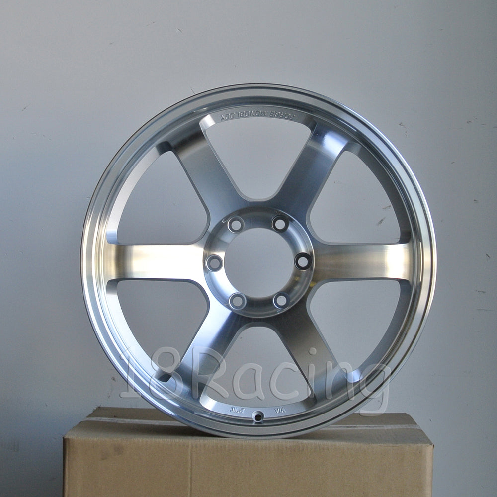 Rota Wheels Grid  20x8.5  6x139.7 10 110 Full Royal Silver with No Caps.