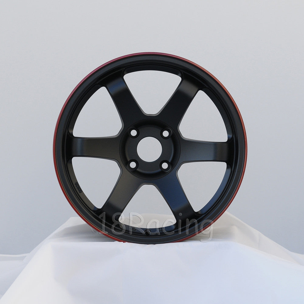 Rota Wheels Grid 1795 4x114.3 12 73 Flat Black with Red Line