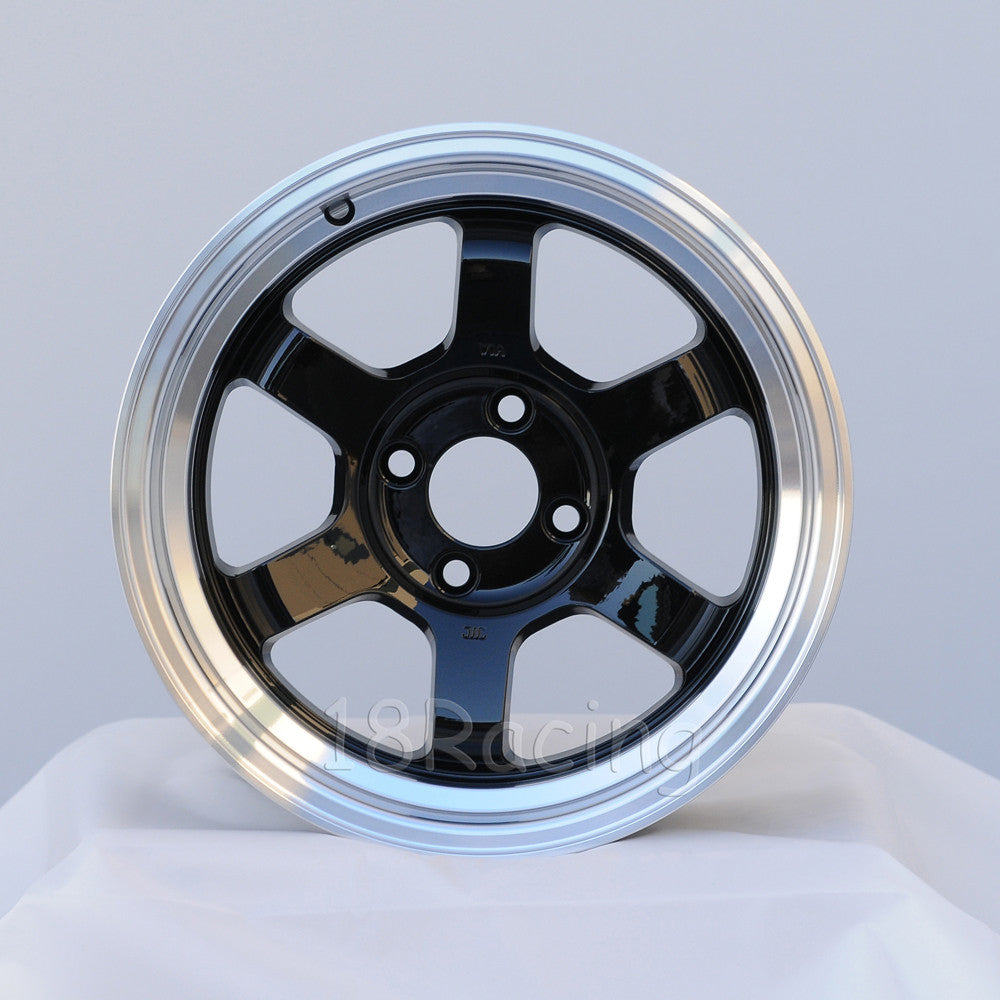 Rota Wheels Grid V 1570 4X100 20 67.1 Black with Polish Lip