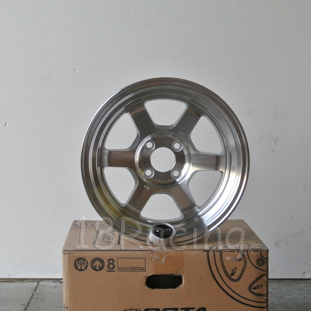 Rota Wheels Grid V 1580 4X100 0 67.1 Full Polish Silver
