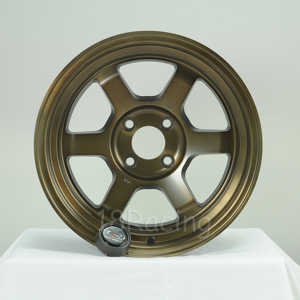 Rota Wheels Grid V 1580 4X100 0 67.1 Full Royal Sport Bronze