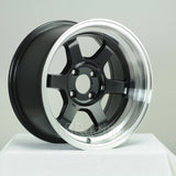 Rota Wheels Grid V 1580 4X100 0 67.1 Black with Polish Lip