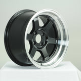 Rota Wheels Grid V 1580 4X114.3 0 73 Black with Polish Lip