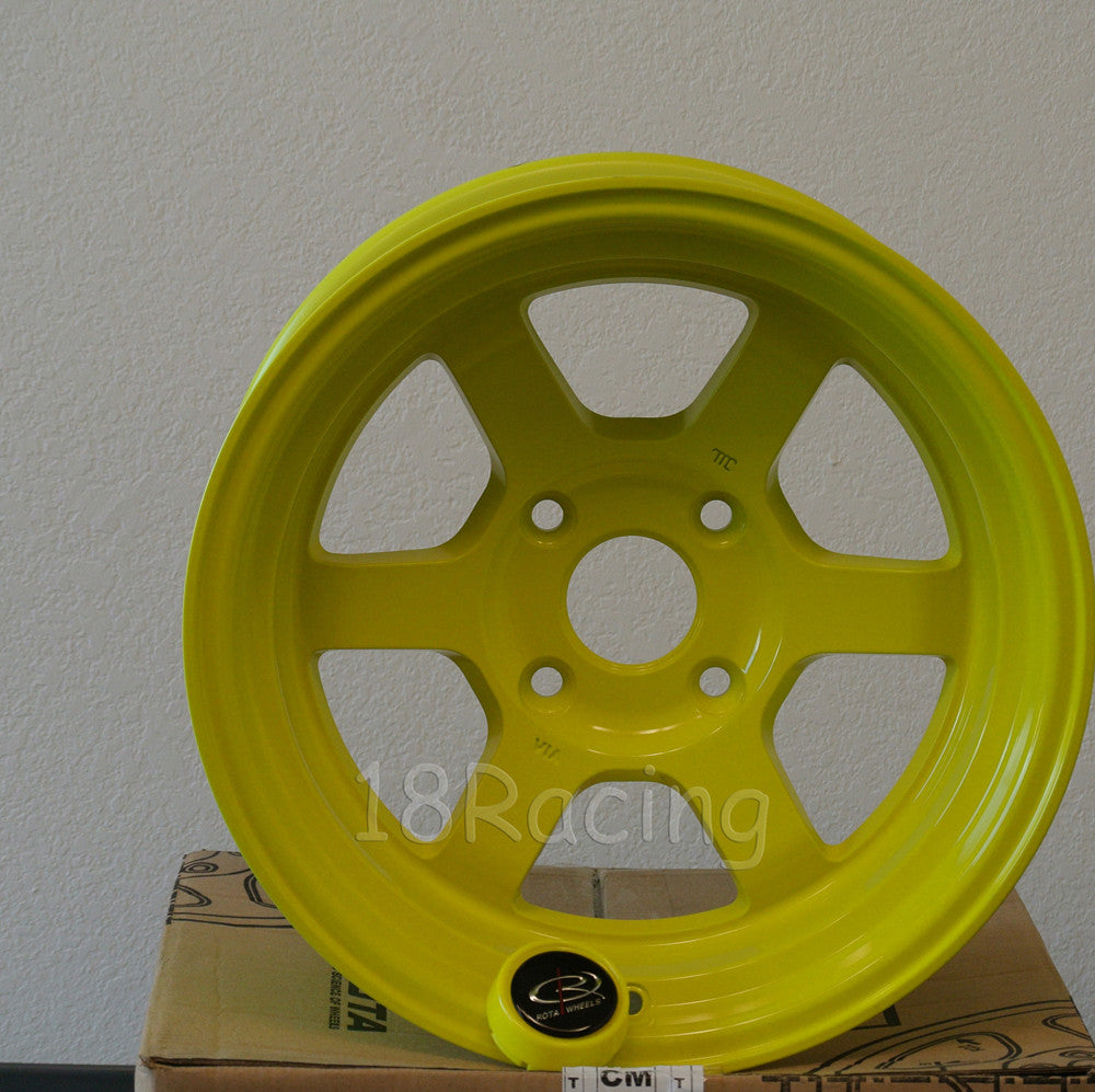 Rota Wheels Grid V 1590 4X114.3 0 73 Highlight Yellow