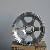Rota Wheels Grid V 1680 4X100 20 67.1 Full Polish Silver