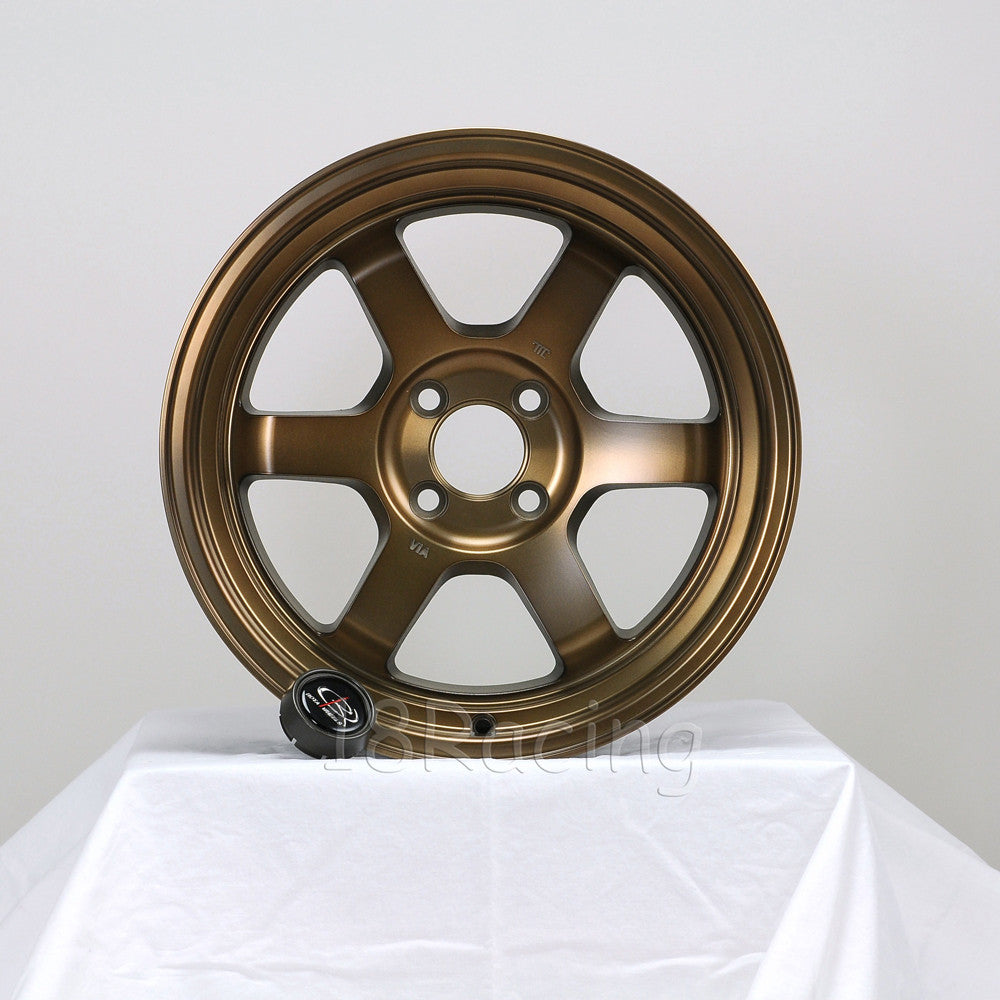Rota Wheels Grid V 1690 4X114.3 -15 73 Full Royal Sport Bronze