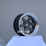 Rota Wheels Grid V 1570 4X100 20 67.1 Hyper Black with Polish Lip
