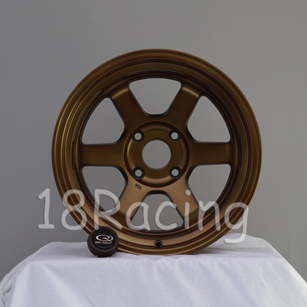 Rota Wheels Grid V 1690 4X100 -15 67.1 Full Royal Sport Bronze