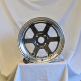 Rota Wheels Grid V 1690 4X114.3 -15 73 Gunmetal with Polish Lip