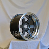 Rota Wheels Grid V 1690 4X100 -15 67.1 Gunmetal with Polish Lip