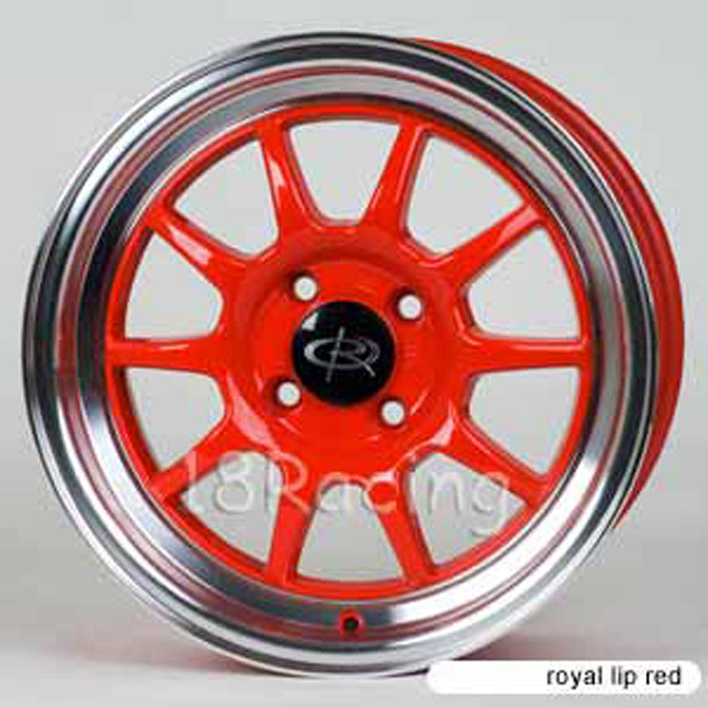 Rota Wheels GT3 1570 4X100 40 67.1 Red with Polish Lip