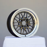 Rota Wheels Kensei 1570 4X100 25 67.1  Hyperblack with Polish Lip