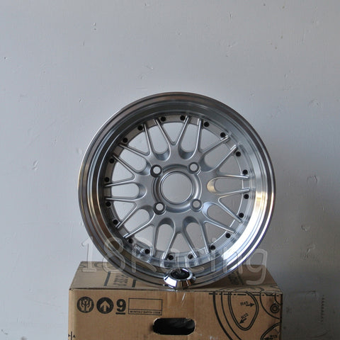 Rota Wheels Kensei 1580 4X100 0 67.1 Silver with Polish Lip