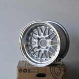 Rota Wheels Kensei 1580 4X114.3 -10 73 Silver with Polish Lip