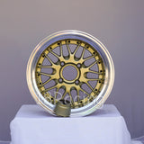 Rota Wheels Kensei 1580 4X114.3 -10 73 Gold with Polish Lip
