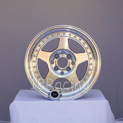 Rota Wheels Kyusha 1570 4X100 38 67.1 Full Polish Silver