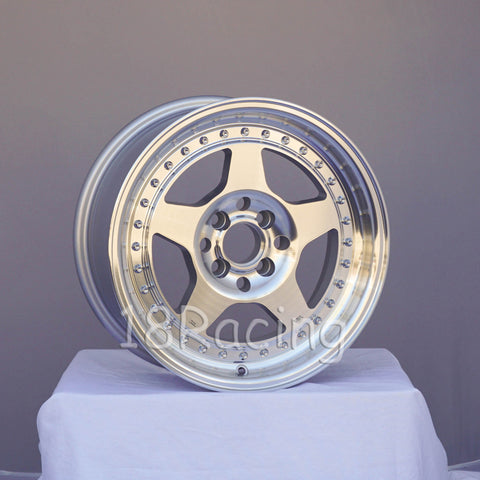 Rota Wheels Kyusha 1570 4X95.25 25 72.6 FULL POLISH SILVER
