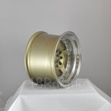 Rota Wheels Kyusha 1590 4X114.3 -15 73 Gold with Polish Lip
