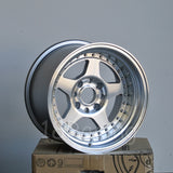 Rota Wheels Kyusha 1590 4X100 -15 67.1 Full Polish Silver