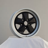 Linea Corse Wheel PSD 17X9  5X130 16  71.6 FOX 3 Flat Black With Steel Grey Lip No Cap