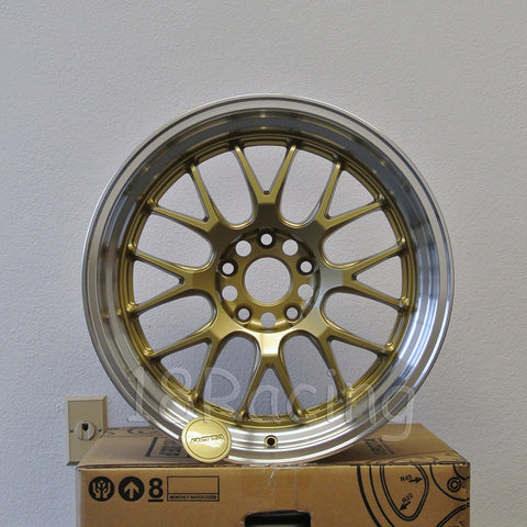 Rota Wheels MXR-R 1895 5x100 38 73 Gold with Polish Lip