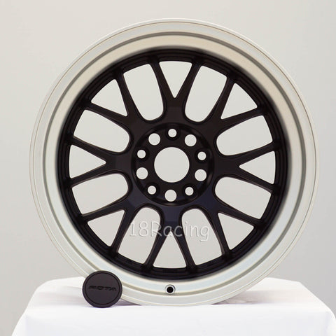Rota Wheels MXR-R2 1811 5x114.3 20 73 Flat Black with Silver Lip