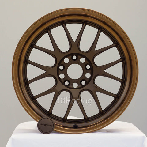 Rota Wheels MXR-F 1885 5x114.3 44 73 Matte Bronze with Sport Bronze Lip