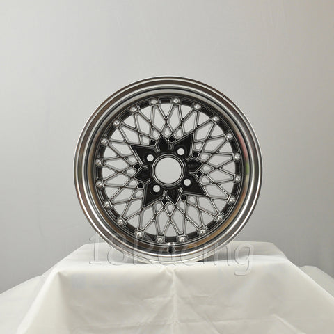 Rota Wheels Os Mesh 1570 4X100 35 67.1 Hyperblack with Polish Lip