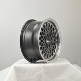 Rota Wheels Os Mesh 1570 4X100 25 57.1 Hyperblack with Polish Lip