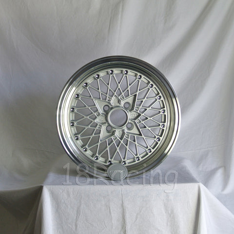 Rota Wheels Os Mesh 1570 4X100 35 67.1 Silver with Polish Lip