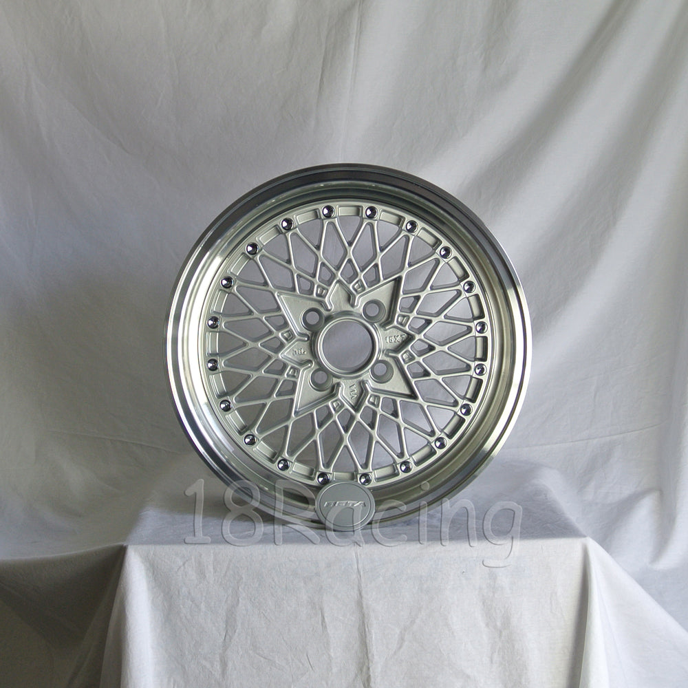 Rota Wheels Os Mesh 1580 4X114.3 10 73 Silver with Polish Lip