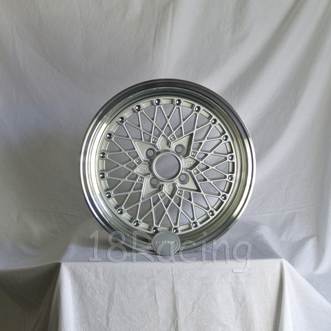 Rota Wheels Os Mesh 1570 4X95.25 25 73 Silver with Polish Lip