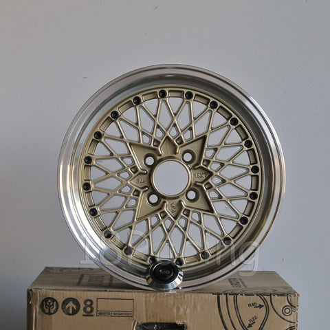 Rota Wheels Os Mesh 1570 4x95.25 25 73  Gold with Polish Lip