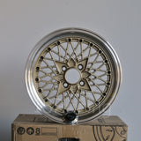 Rota Wheels Os Mesh 1570 4X100 35 67.1 Gold with Polish Lip